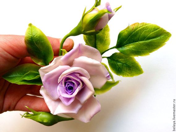 Заколка роза заколка холодный фарфор заколка от ColdPorcelaine