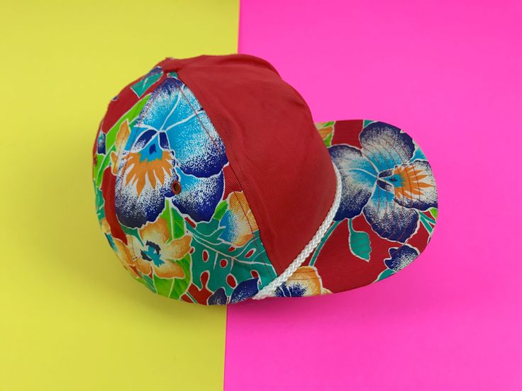 vintage Hawaiian trucker hat, 1990s floral snapback, tropical Hawaiian print, 90s rope hat, retro snapback, Hawaiian hat, 1990s snapback by SpacedOutMama on Etsy