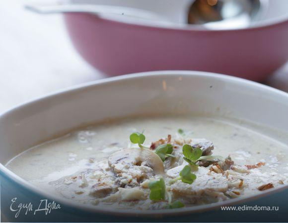 Грибной суп с белым вином.
