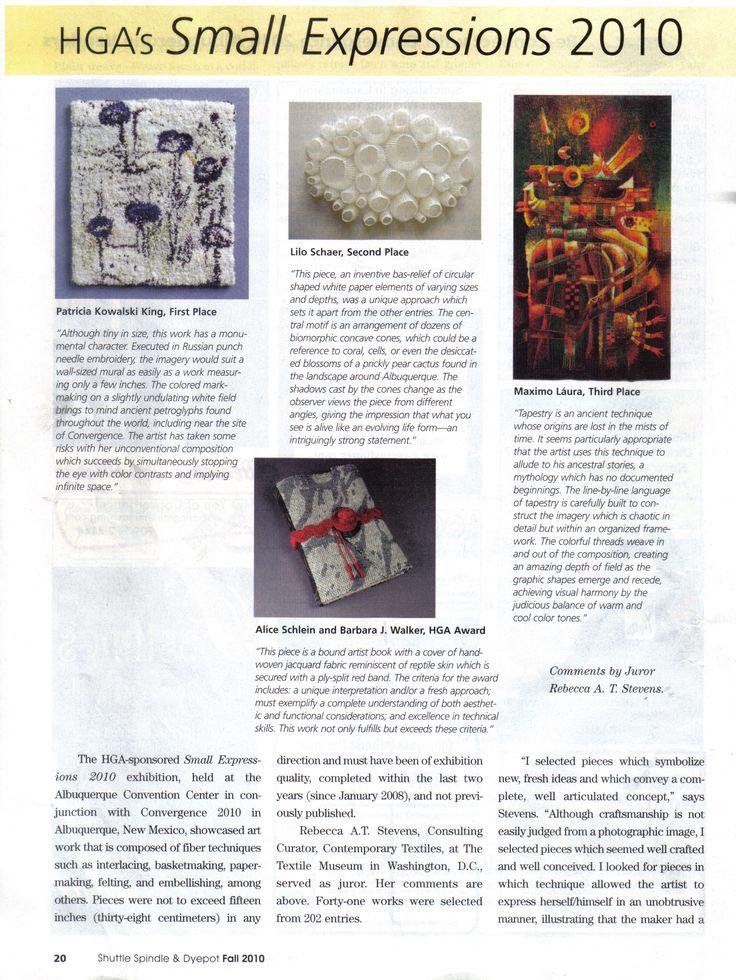 Shuttle Spindle & Dyepot Magazine. 2010.