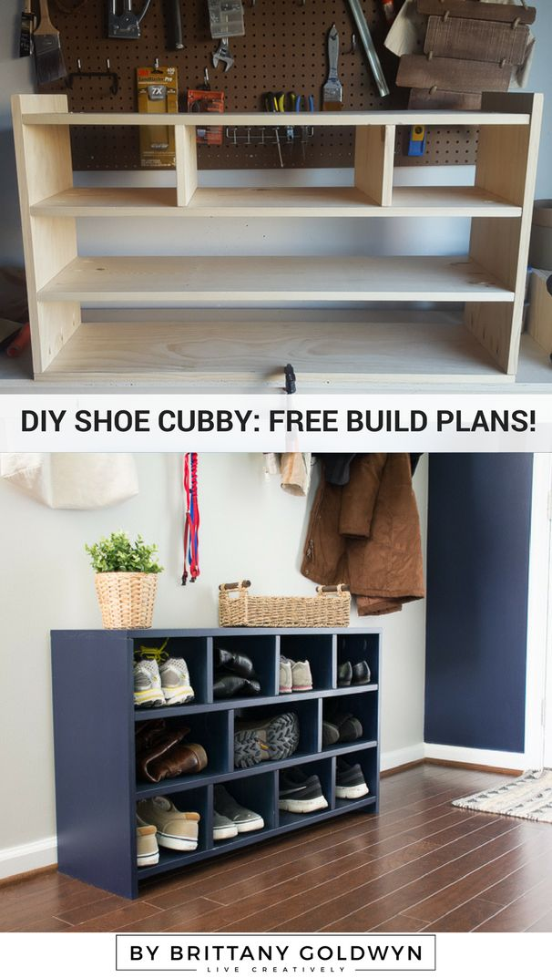 Build a shoe cubby
