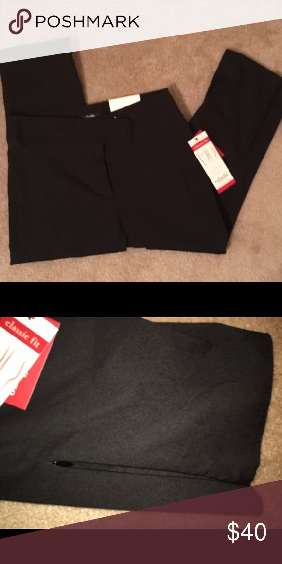 NWT Black Capris Rafaella Size 4 Dressy Capris with Hidden Zippers on Outside of Bottom Legs. Classic Fit. Smaller upper body, full mid section, tapered leg. Machine Washable!!! Rafaella Pants Capris