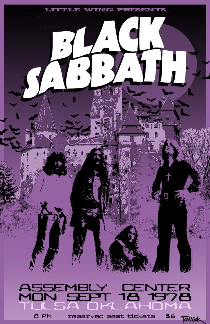 Black Sabbath - 1978 Tour Poster