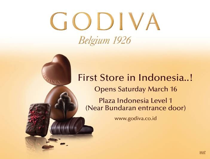 GODIVA opens its first store in Jakarta at Plaza Indonesia!