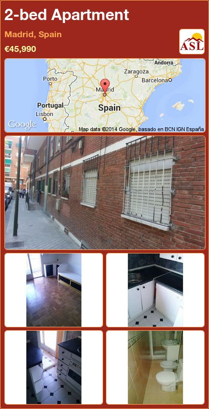 2-bed Apartment in Madrid, Spain Save | Madrid, Apartments ...