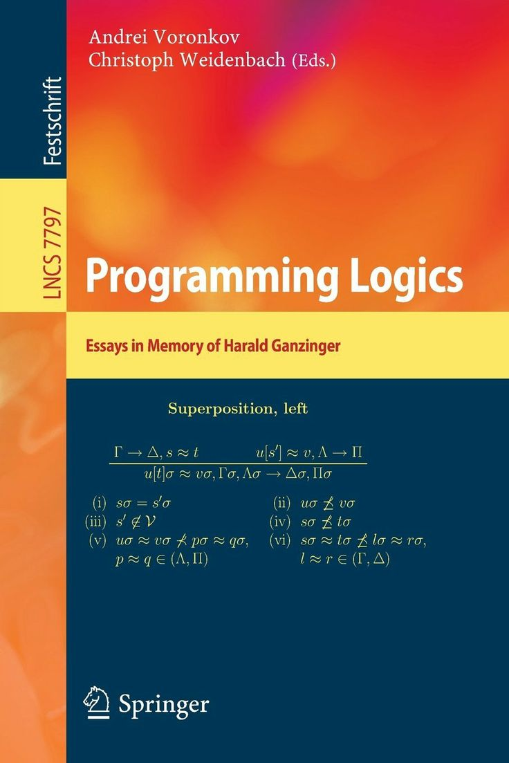I'm selling Programming Logics Essays in Memory of Harald Ganzinger - $15.00 #onselz
