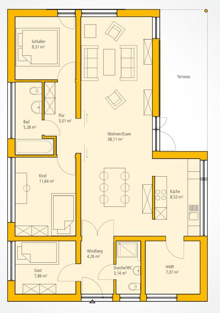 Moderne häuser grundriss neubau  464 besten architektur Bilder auf Pinterest | Grundriss bungalow ...