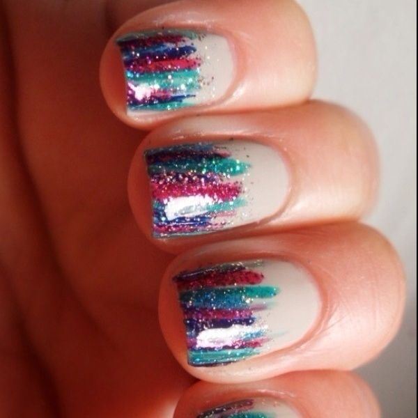 a new way to do glitter nails