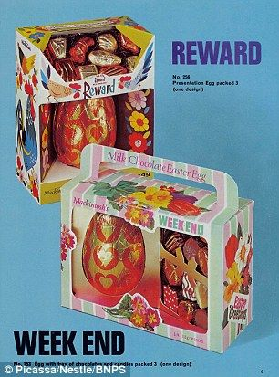 Archived Nestle images show 40 years of the Easter Egg #dailymail