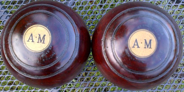 These 2 wooden crown green bowling bowls are at least 40 years old.    Mass (kg) Diameter (maximum) (cm) Diameter (minimum) (cm) Material Condition Fea
