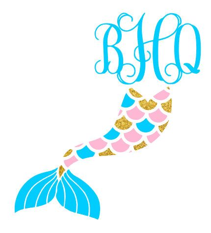 Monogram Mermaid by desaraefarmer on Etsy