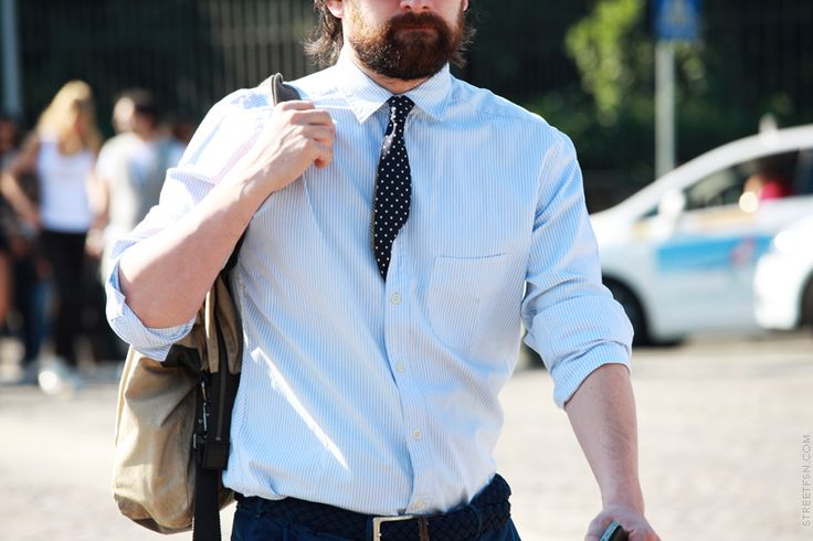 And I thought I was the only one who's done it. Love it!: Clothing Beards Duds, Polka Dots, Dots Ties, Menswear Ties, Men Style, Men Fashion, Ties Tucks, Photo, Tietuck