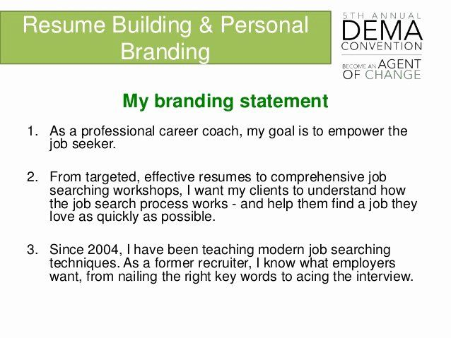 Personal Brand Statement Inspirational Branding And Resume Bui Example Examples Your