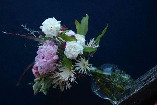 Skulls, gerberas, roses and peonies