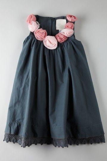 Love navy/pink.  Adorable little girls dress