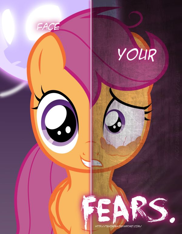 MLP - Two Sides of Scootaloo by *TehJadeh on deviantART