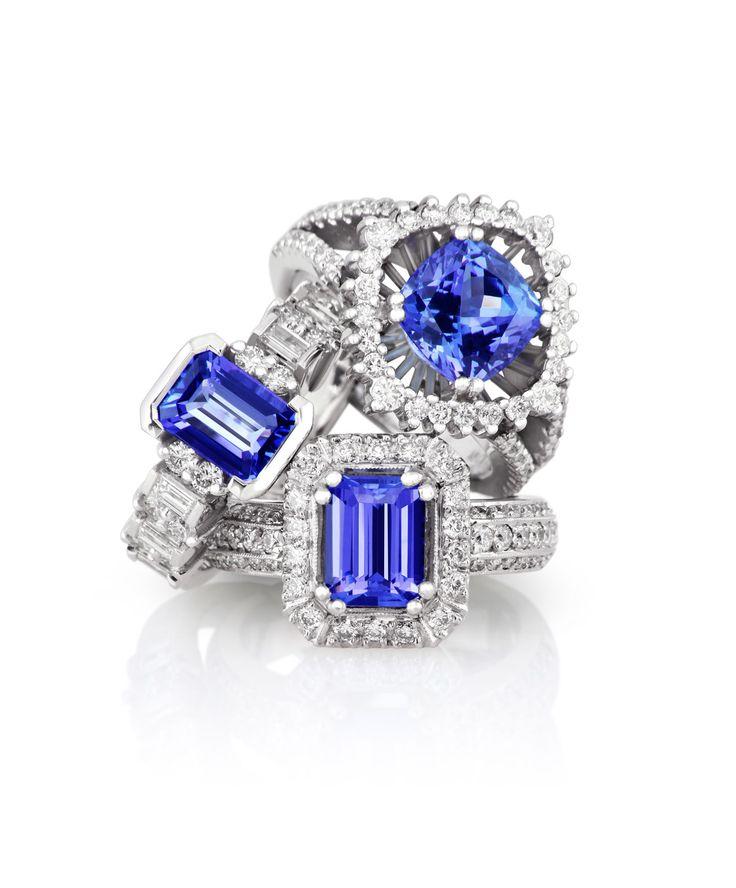Brilliant blue beauties. Jenna Clifford Designs   Fine Jewellery � Rings