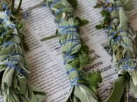 A natural chemical-free way to repel unwanted mosquitoes from your immediate surroundings using lavender, sage and mint.