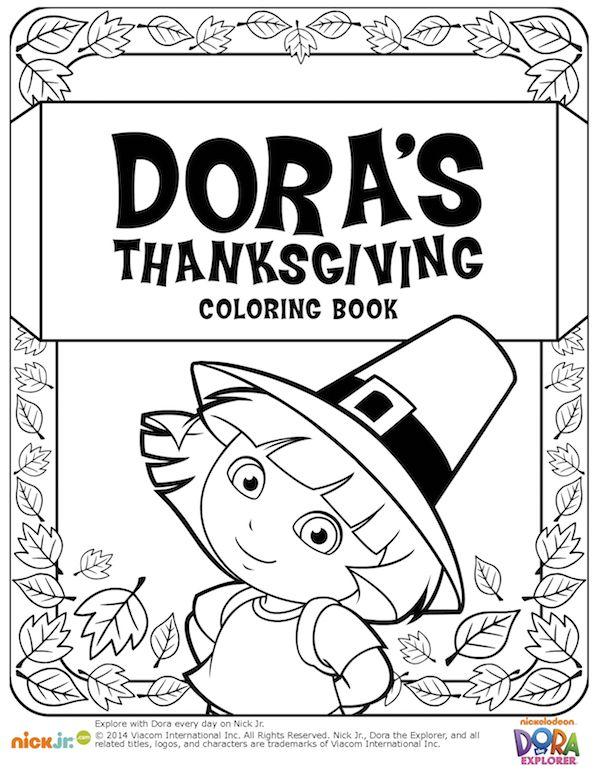 Dora Thanksgiving Coloring Book
