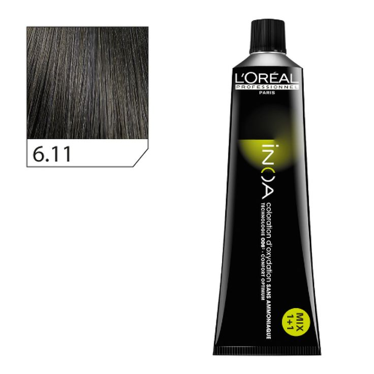 INOA Vopsea 6.11 - Blond inchis cenusiu intens - 60 ml