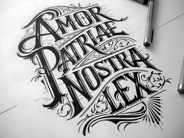 A Collection Of Elegantly Hand-Lettered Slogans & Logotypes - DesignTAXI.com
