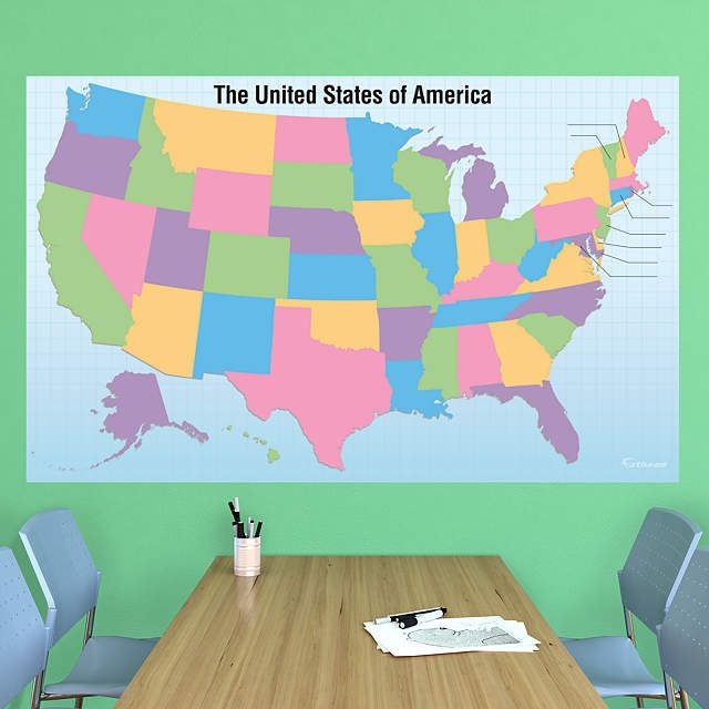 Best  Usa States Names Ideas On Pinterest Usa Maps United - Us wall map where you put your pictures on