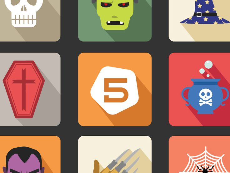 Free Halloween Vector Icon Set  by FIVE DIMENSION STUDIO