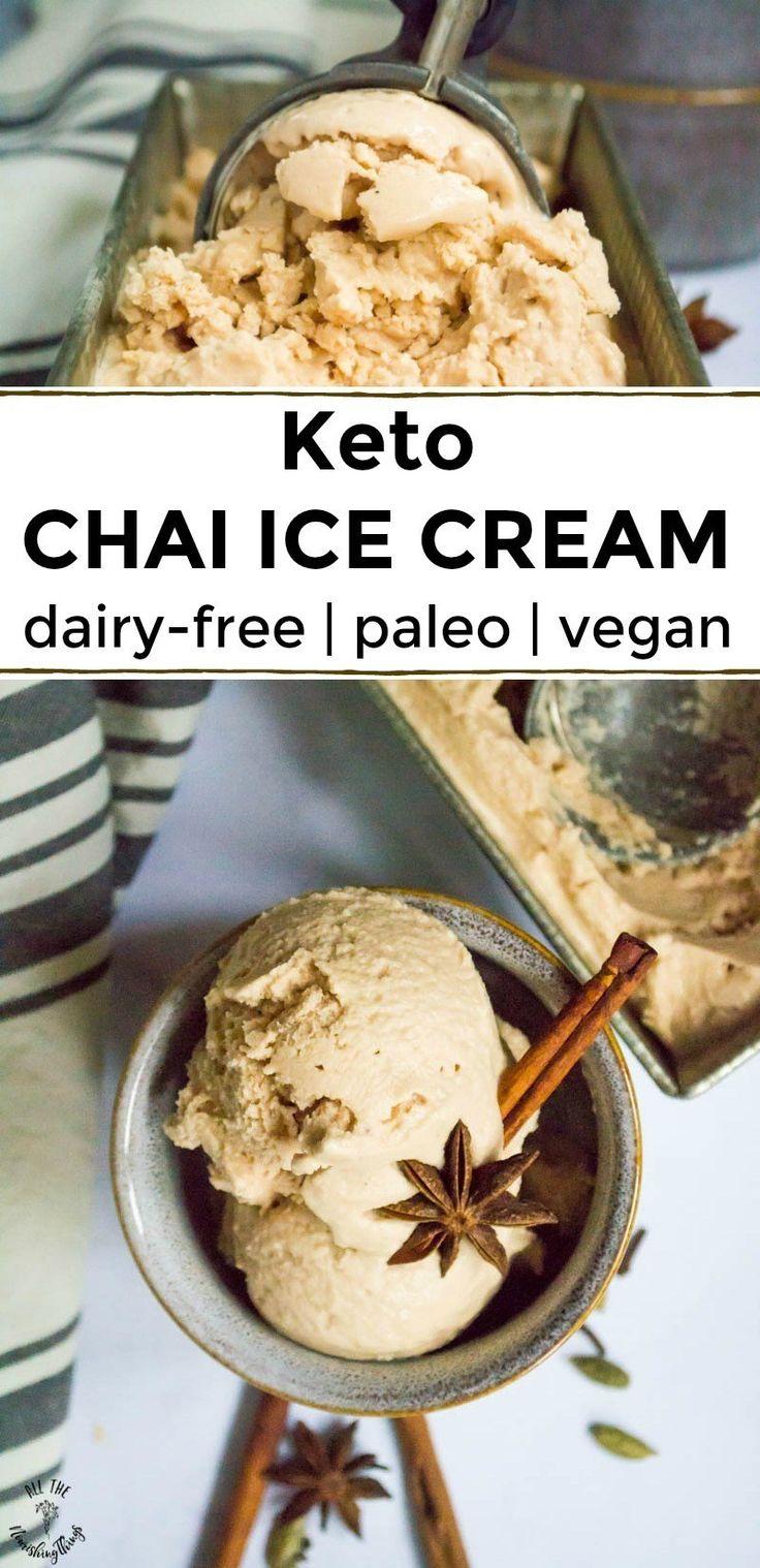 Keto Chai Ice Cream (dairy-free, paleo, vegan)  – Keto