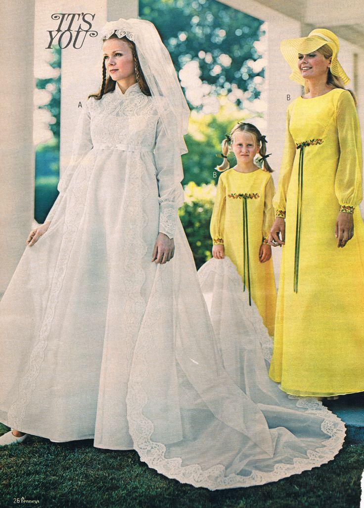 Wedding dresses circa 1970 compound