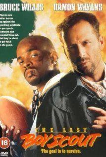 The Last Boy Scout (1991), Geffen Pictures, Damon Wayans (Jimmy Dix) and Bruce Willis (Joe Hallenbeck).