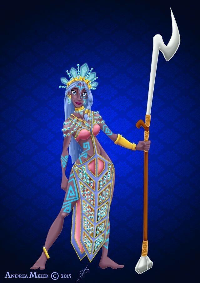 "Royal Jewels Dress Edition: KIDA by MissMikopete.deviantart.com on @DeviantArt - From ""Atlantis: The Lost Empire"""