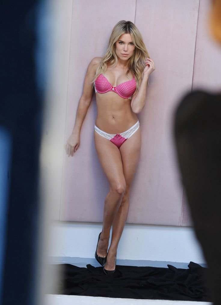 Sylvie Meis during a photo shooting for her new lingerie collection 'Sylvie Flirty Lingerie' in Hamb