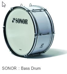 Sonor marching bass drum