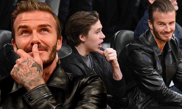Brooklyn Beckham gets to see a sporting legend every day. But his dad David brought him to see another on Wednesday night as Kobe Bryant played his final game for the LA Lakers.
