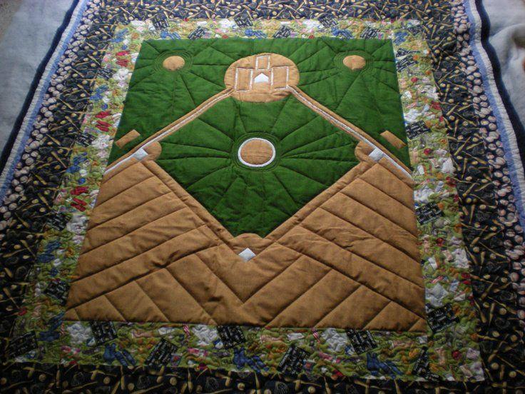 America's favorite Pass time Baseball Quilt