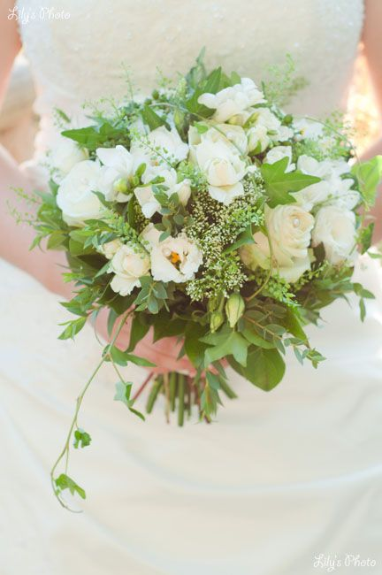 bouquet vert et blanc