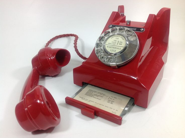 """Very rare red antique Telephone (Model No 312). Dated 1954 this is """"THE"""" Iconic British vintage / antique telephone model and at that time 99.99% of all telephones were black so a GPO red 312 telephone was and still is a very rare find :-)"""