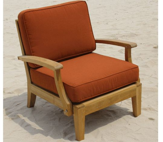 Classic Teak Side Chair Furniture Deep Seated Sofa