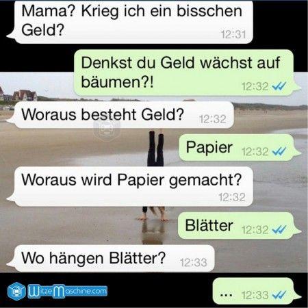Lustige WhatsApp Bilder und Chat Fails 73 - Geld