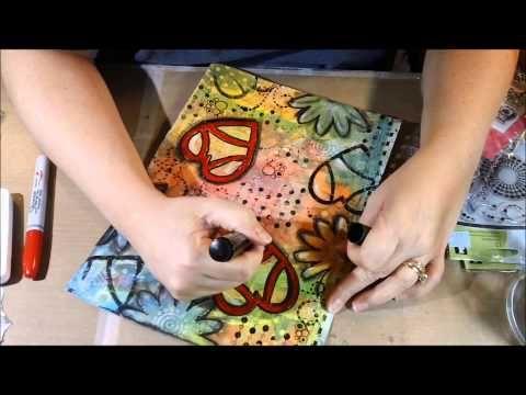 ▶ Mixed Media Art Journal In Progress - Love Bug - YouTube
