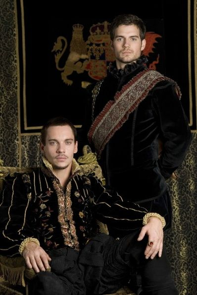 The Tudors-Henry VIII (Jonathan Rhys Meyers) and Charles Brandon (Henry Cavill)