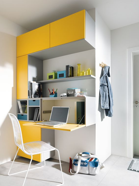 Workstations can be compact and efficient when using Schüller to house all your much needed work information, or to act as the perfect study desk for the kids! Add a dash of colour to give you the fun factor. Who wants to look at a drab desk all day anyway?