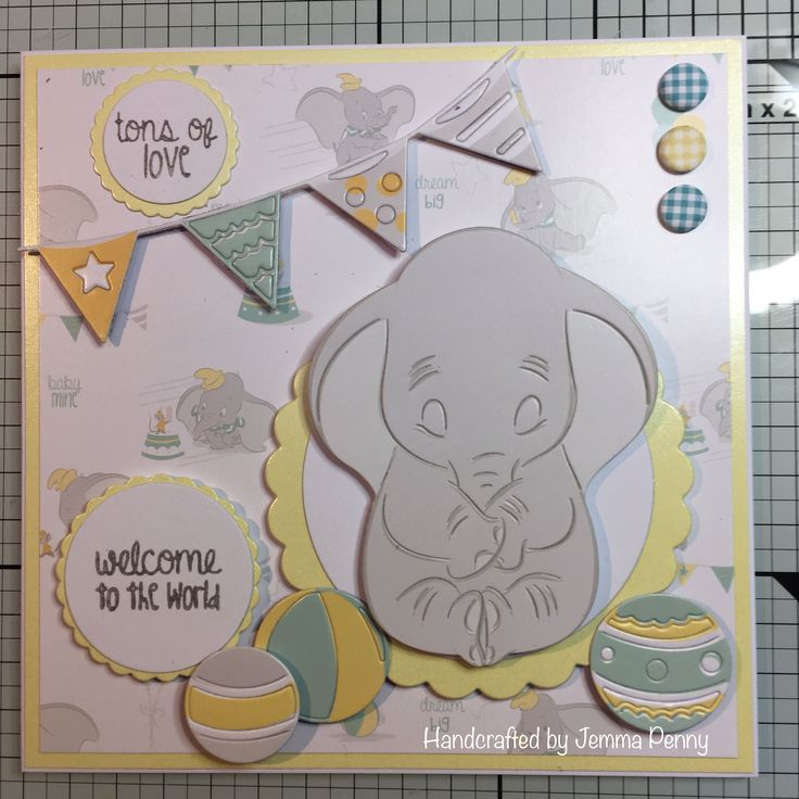 Disney Dumbo - die cut from colourful creations and Paper pad