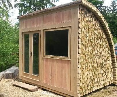 small glamping pod or garden office room