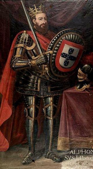 320px-Afonso_I_Henriques_de_Portugal  Afonso I de Portugal, mais conhecido por D. Afonso Henriques (Guimarães, Coimbra ou Viseu, ca. 1109 — Coimbra, 6 de dezembro de 1185) foi o fundador do Reino de Portugal e o seu primeiro rei, com o cognome O Conquistador, O Fundador ou O Grande pela fundação do reino e pelas muitas conquistas.