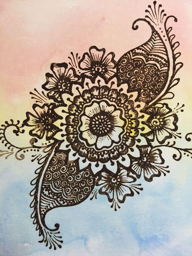 Henna on canvas   By Bron Lowe @ Projectguru.com.au