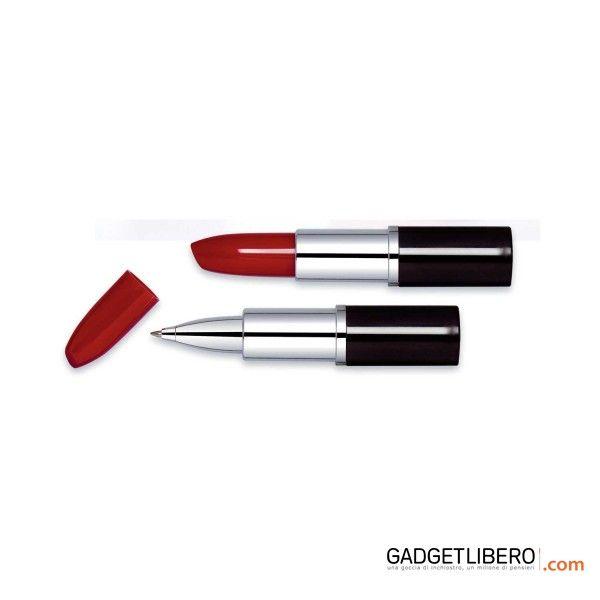 """[Scrittura personalizzato] May Penna a sfera """"Rossetto"""". Disponbile nei colori Rosso"""