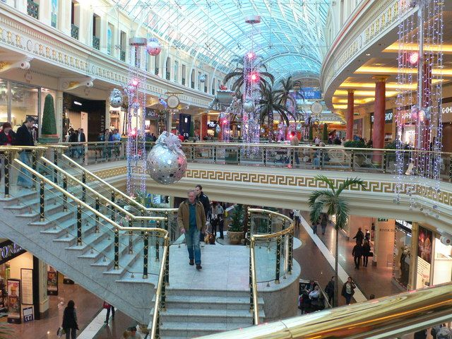 Shopping at the Trafford Center, Manchester, England.