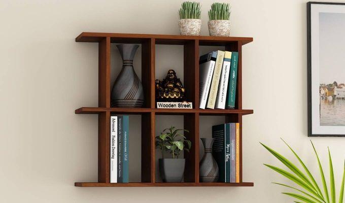 Buy Plaza Wall Shelf Honey Finish Online In India In 2020 Wall Shelves Wooden Street Shelves