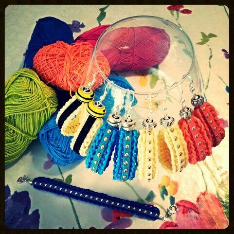 earrings crochet handmade